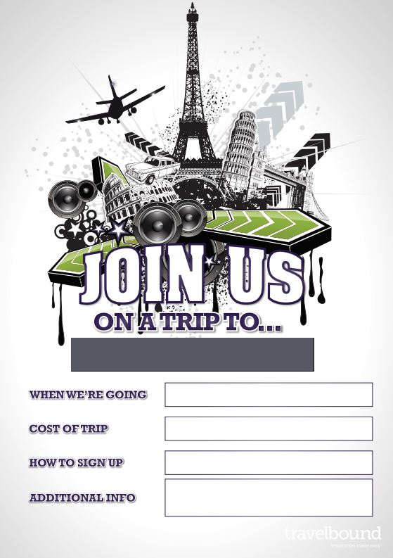 Music trip promotional poster