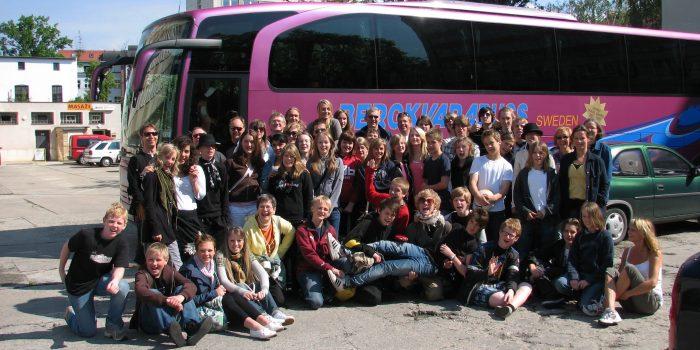 School group in Prague