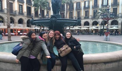 Students in Barcelona