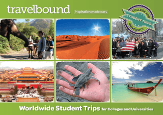 Travelbound further education university and college trips brochure