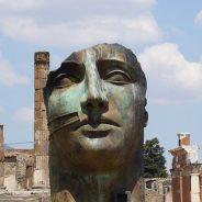 pompeii face statue