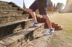 Student taking an adventurous step