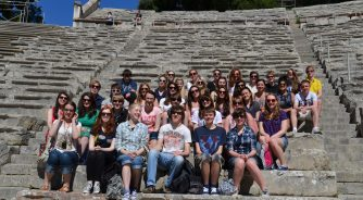 School group in Ampitheatre