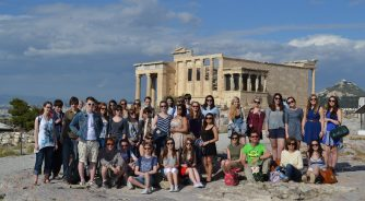 School group in Athens