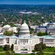 Urban view over Washington, D.C.