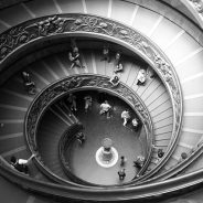 Vatican staircase Rome