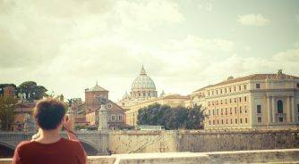 vatican boy taking picture