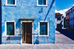 Blue house in venice