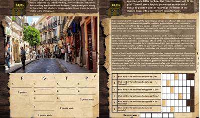 Travelbound Quest booklet