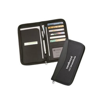 Branded travel document wallet