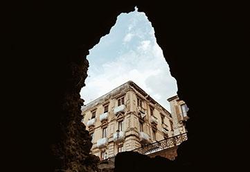 Artistic shot captured in Catania, Sicily