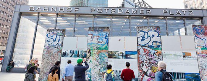 Potsdamer Platz Mauerreste © visitBerlin, Photo: Arthur F. Selbach