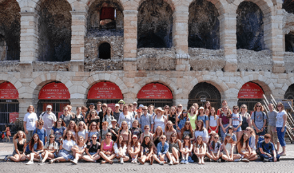 Testbourne group photo in Italy