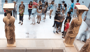 Students at the Acropolis Museum, Athens