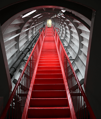 Stairs inside the Atomium