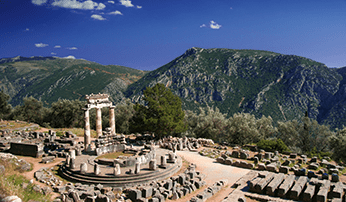 Ancient ruins at Delphi