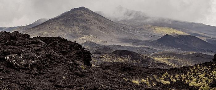 Landscape of Mount Etna