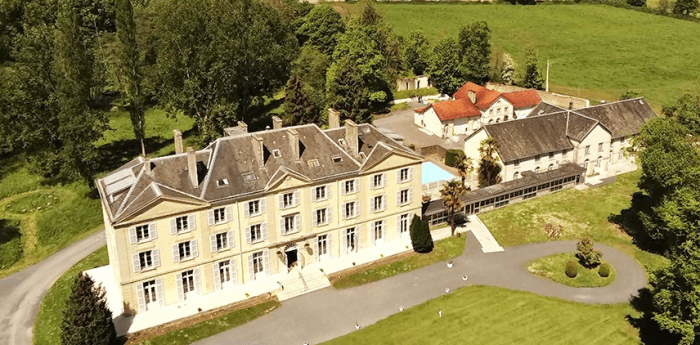 Aerial view of the Château du Molay in Normandy