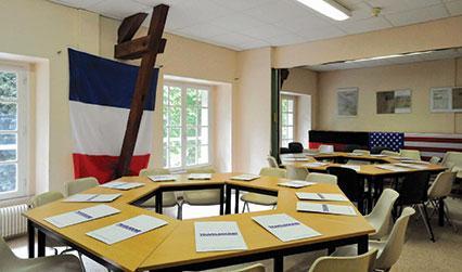 Classroom facilities at the Château du Molay