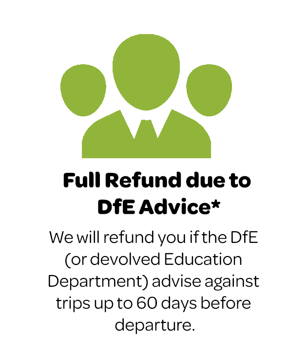 Full refund due to DfE Advice