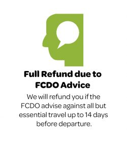 Refund due to FCDO advice