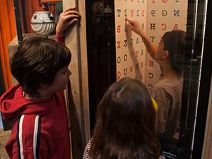Students at the Spy Museum