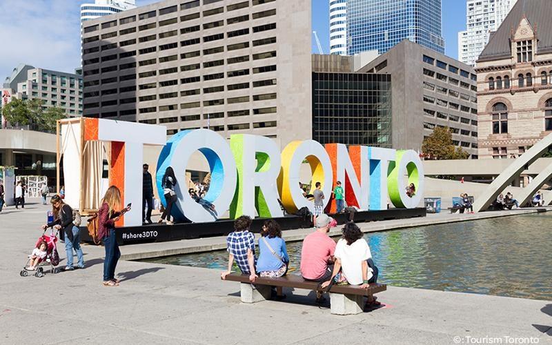 Toronto sign. Photo credit: Tourism Toronto